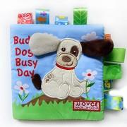 Malloom Perro animal mono conejo Puzzle libro bebé juguete tela desarrollo libros de tela (Perro)
