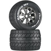Duratrax Bandito Mt 3.8 Mounted Tyre (Set Of 2), Chrome