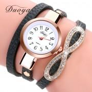 Duoya Brand New Fashion Watch Women Luxury Leather Bracelet Watch Women Dress Casual Classic Quartz Watches DY062