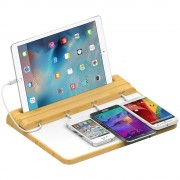 Bamboo Universal Quick ChargeBar Station for Mobile Phones & Tablets