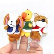 Lindo rompecabezas Doll Story Finger Perro + gallo + Fox Set - amarillo + Brown + Blanco