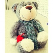 Gift for baby 1pc 35cm NICI forest scarf bear love heart pacify plush hold doll novelty children kids girl boy stuffed toy