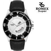 Romex Super Day N Date Analog White Dial Mens Watch- Dd-909Wht