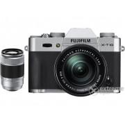 Aparat foto Fujifilm FinePix X-T10 (16-50mm, 50-230mm), argintiu
