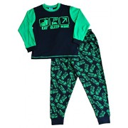 Boy's Eat Sleep Mine Pajamas Fantastic Computer Game Style All Over Print 7 to 14 Years (12)