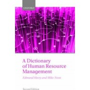 A Dictionary of Human Resource Management by Professor Edmund Heery