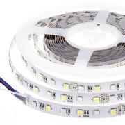 Banda LED 5050 60 SMD lumina multicolora RGB + Alb Rece