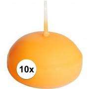 Oranje drijfkaarsjes