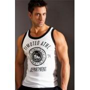 Timoteo Training Team Tank Top T Shirt White SM7187