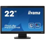 iiyama ProLite P2252HS-B1 22'LED LCD 1920x1080 Protective Glass 225cdm² 12M:1 ACR speakers HDMI VGA DVI-D 5ms