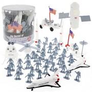 Astronaut Space Action Figures - Big Bucket of Astronauts - Huge 60 Piece Set