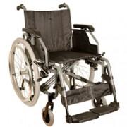 sedia a rotelle / carrozzina adulto king - in alluminio