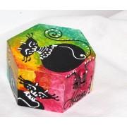 cutie din lemn hexagon - 011