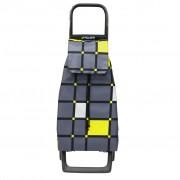 Rolser Jet Cuadro Joy Marengo ultra könnyű húzós bevásárlókocsi - szürke-sárga kockás