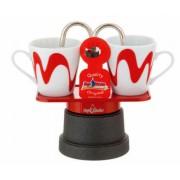 Mokka mini kotyogós kávéfőző teflon 2 csészéhez piros