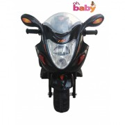 Oh Baby baby battery Operated Bike Black Color with musical sound And Back Basket for your kids SE-B0B-03