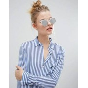 New Look Frosted Mirrored Sunglasses - Silver