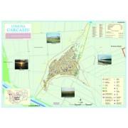 Harta Comunei Carcaliu TL - sipci de lemn