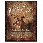 """Sign - Man Cave Deer Hunting Lodge and Bar"""