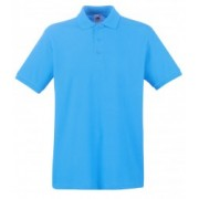 Tricou polo FRUIT OF THE LOOM Turquoise