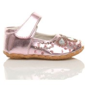 Balerini Mary Jane roz cu paiete