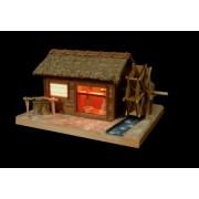 Mini Wooden Architecture Model Akari Series No.4 Smattering Watermill (Japan Import) (japan import)