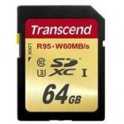 Карта памет Transcend 64GB SDXC UHS-I U3 - TS64GSDU3