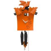 ISDD Cuckoo Clock - Reloj cucú moderno, 1 día de cuerda, color naranja