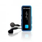 Reproductor MP3 Transcend Antigolpe y Resistencia A Agua Fitness 8gb + Fm T.sonic 350 con Pinza Negro / Azul