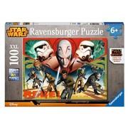 Ravensburger 10563 2 - Star Wars Rebels Puzzle Super, 100 Pezzi, Cartone