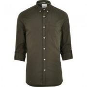 River Island Mens Green long sleeve slim fit summer shirt