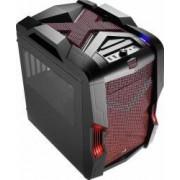 Carcasa AeroCool Strike-X Cube Windowed fara sursa Neagra-Rosie