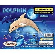 Puzzled Bottle Nose Dolphin Lr 3D Natural Wood Puzzle (25 Piece)
