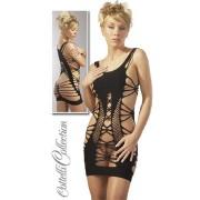 Erotski donji ves - crna mini haljina sa prorezima 5132271022