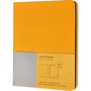 Ipad 3 and 4 Moleskine Cadmium Orange Yellow Slim Digital Cover with Notebook by Moleskine