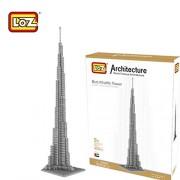 Loz 9370. Kit de construccion miniaturizada. Torre Dubai Burj Khalifa. 900 piezas