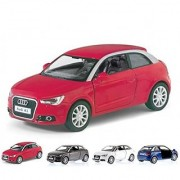 Set of 4: 2010 Audi A1 Coupe 1:32 Scale (Red White Grey Blue)