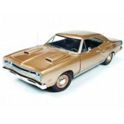 1969 Dodge Coronet R/T Light Bronze Poly HEMI 50th Anniversary 1/18 by Autoworld AMM1024