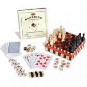 Old Century Classics Coffee Table Games: Six-in-One Mini Game Set