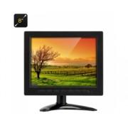 Moniteur TFT-LCD 8 pouces - VGA / BNC + AV / Resolution 1024x768 / Contraste 400:1 / Telecommande / Pied ajustable