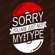 T-shirt Pokémon Not my Type
