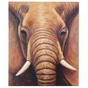 Cuadro PAQUIDERMO 120x100x3,5 cm, pintado a mano al óleo
