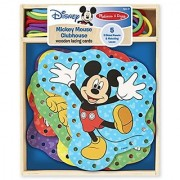 Melissa & Doug Mickey Mouse Clubhouse Wooden Lacing Cards With 5 Double-Sided Panels and Matching Laces