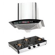 Jazel Metley 60Cm 1100M3/H +3Burner Cooktop (Combo Set Offer)