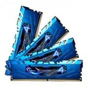 Memorie G.Skill Ripjaws 4 Blue 32GB (4x8GB) DDR4, 2400MHz, PC4-19200, CL15, Quad Channel Kit, F4-2400C15Q-32GRB
