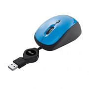 Myš TRUST Yvi Retractable Mouse - blue