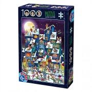 D-TOYS 7 - Puzzle Cartoon - Santa Claus, 1000 pezzi