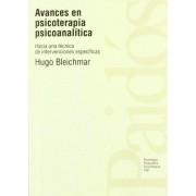 Avances En Psicoterapia Psicoanalista by Hugo Bleichmar
