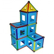 Gamma132 magnetic building set consisting of 60 magnetized bars 32 steel balls 20 square panels 20 triangle panels in