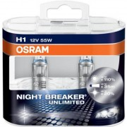 Pack 2 ampoules H1 Osram Night Breaker Unlimited 55W